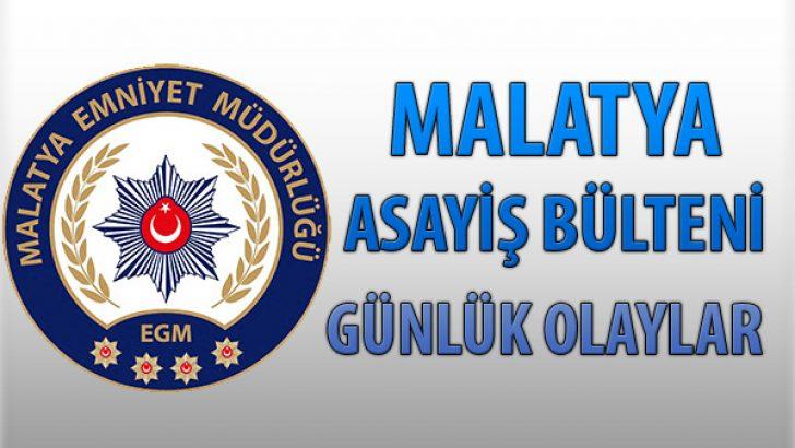 Malatya Asayiş Bülteni Günlük Olaylar 29 Temmuz – 4 Ağustos 2019