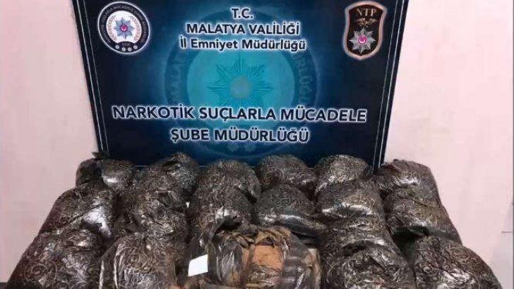 Malatya'da  Kannabinoid  Madde Ele Geçirildi