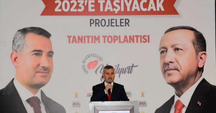 """Çınar, Yeşilyurt için projelerini açıkladı.""""Hedefimiz Yeşilyurt'u 2023 vizyonuna hazır hale getirmek"""""""