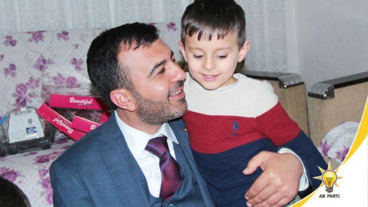 Çocuklar davet etti, Mikail Başkan icabet etti