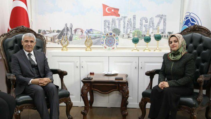 Kadem Başkanı Dürgen , Battalgazi Belediye Başkanı Güder'i Ziyaret Etti