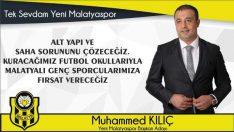 İşadamı Muhammed Kılıç, Yeni Malatyaspor Başkanlığına adaylığını açıkladı.VİDEO HABER