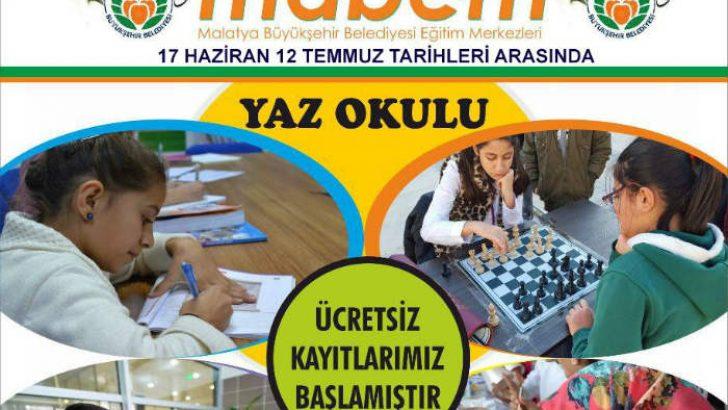 Malatya Büyükşehir Belediyesi Kültür ve Sosyal İşler Dairesi tarafından düzenlenen Yaz Okulu, bu yıl 6'ıncı kez kapılarını açacak.
