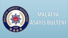 Malatya Asayiş Bülteni Günlük Olaylar 08 – 14 Temmuz 2019
