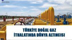 Türkiye doğal gaz ithalatında 216 ülke arasından 6. sıraya yerleşirken, 55 milyar 130 milyon metreküp ithal ettiği görüldü. #haber #doğalgaz #ithalatı #haberler