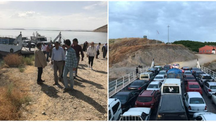 MHP'li Fendoğlu Baskil Feribot iskelesinde vatandaşın talepleri dinledi