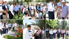 Selahattin Gürkan Ramazan Bayramı öncesinde bayram ziyaretlerinde bulundu