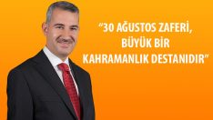 """Başkan Çınar, """"30 Ağustos Zafer Bayramı Mesajı"""