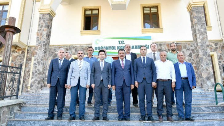 Başkan Gürkan Doğanyol ilçesinde incelemelerde bulundu