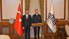 Milli Savunma Bakanı Akar, Vali Baruş'u Ziyaret Etti