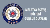Malatya Asayiş Bülteni Günlük Olaylar  25 Kasım –  2 Aralık 2019
