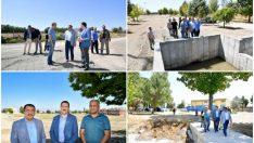 Gürkan, Atıksu Arıtma Tesisi ile Doğu Kolektör hattında yapılan çalışmaları yerinde inceledi.