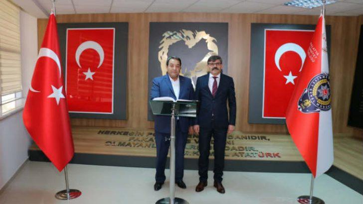 Fendoğlu İl Emniyet Müdürü Ercan Dağdeviren'e hayırlı olsun ziyaretinde bulundu