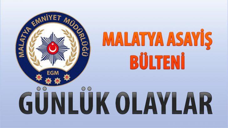 Malatya Asayiş Bülteni Günlük Olaylar 30 Aralık 2019 /5 Ocak 2020
