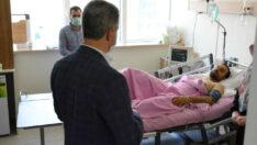 Vali Baruş, Tren Kazasında Yaralanan Personeli Ziyaret Etti