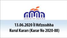 13.06.2020 İl Hıfzıssıhha Kurul Kararı (Karar No 2020-88)