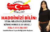 Anadolu Basın Yayın Birliği (ABYB) Malatya Şube Başkanı Filiz Yavuzkurt'dan malatyasanal habere sert tepki