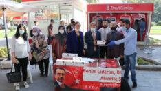 Malatya Büyük Birlik Partisi BBP Malatya İl teşkilatı vatandaşlara ücretsiz maske dağıttı.