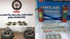 Malatya'da Bir Aracın Lastiklerine Saklanmış 10 Kilo Kubar Esrar Ele Geçirildi