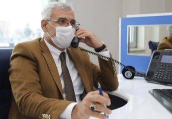 Battalgazi Belediye Başkanı Osman Güder, Çağrı Merkezini ziyaret etti