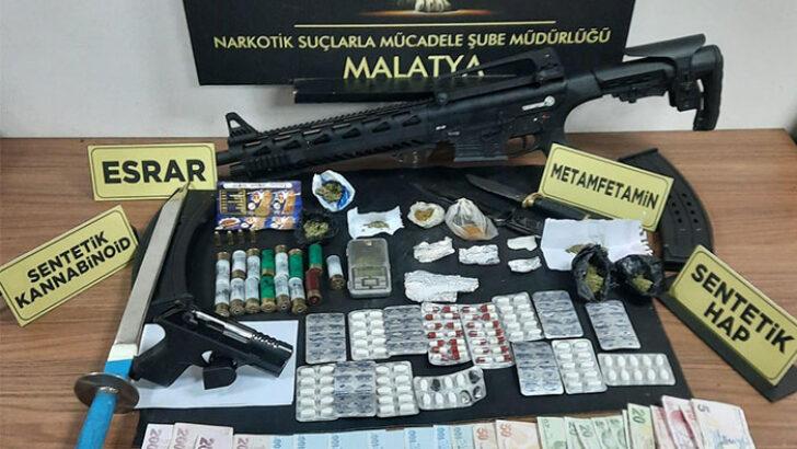 Malatyada  Asayiş Bülteni Narkotik Madde Ele Geçirildi 17 Ocak 2021