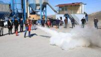 Battalgazi Belediyesi tarafından Fen İşleri Müdürlüğünde görevli personele yangın söndürme, kurtarma