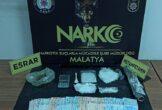Malatya'da Metamfetamin ve Esrar Ele Geçirildi