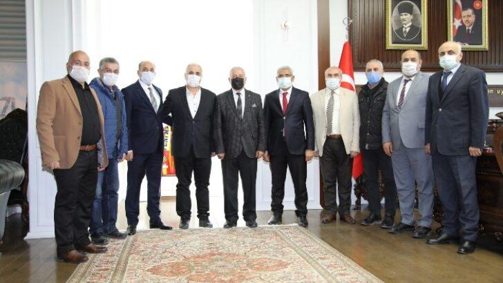 Güder, (MASKF) Şube Başkanı Seyfullah Özdemir ve yönetim kurulu üyeleriyle bir araya geldi.