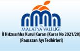 İl Hıfzıssıhha Kurul Kararı (Karar No 2021/20) (Ramazan Ayı Tedbirleri)