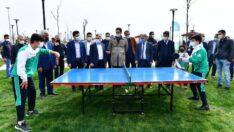 Yeşilyurt Belediyesi Gençlik ve Spor Hizmetleri Müdürlüğü, 6 Nisan Dünya Masa Tenisi Günü nedeniyle Beylerderesi'nde