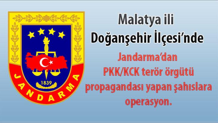 Jandarma'dan PKK/KCK terör örgütü propagandası yapan şahıslara operasyon.