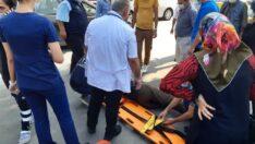 Otomobilin çarptığı şahısa ilk müdahaleye , Özel Gözde Hastanesi'nde görevli doktor Müslim Turan Aydın ve personeli yaptı