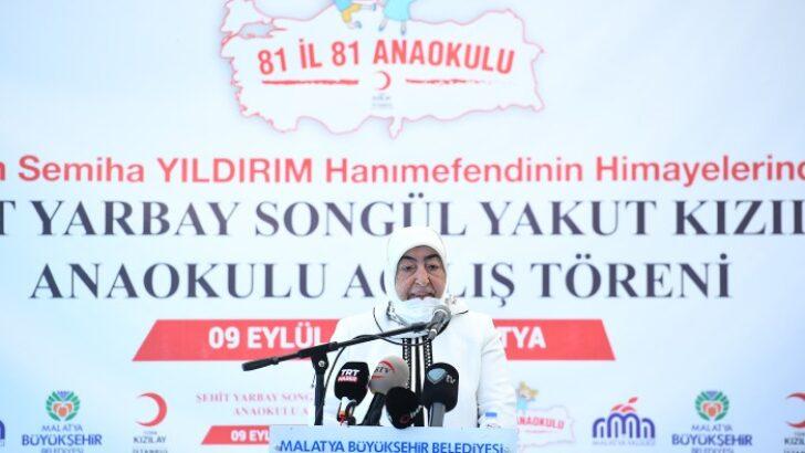 Türk Kızılay İstanbul Şubesince başlatılan '81 il 81 Anaokulu' projesi kapsamında 44'üncü anaokulu Malatya'da eğitime başladı