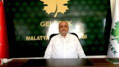 Gelecek Partisi Malatya İl Başkanı Dr.Ahmet Ercan Uçkan, Kent Kavgalara Kurban Ediliyor